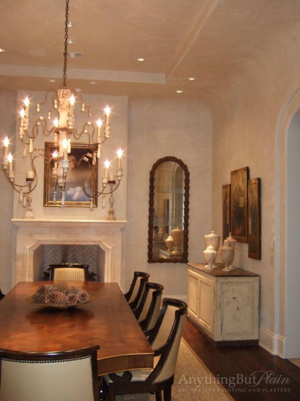Diamond Plaster Walls in Dining Room | Anything But Plain