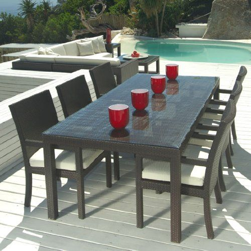 17 Best images about yard likes on Pinterest | Dining sets, Wicker patio  furniture and Curtain rods