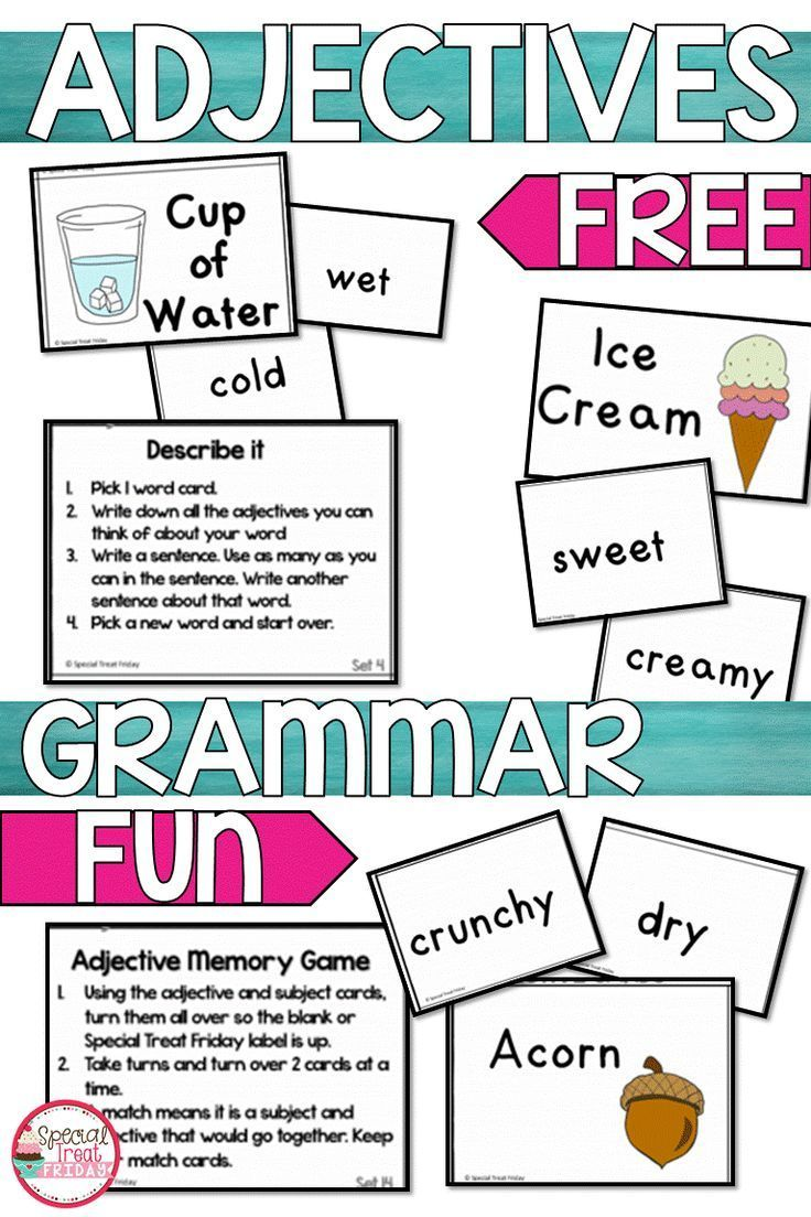 small resolution of Interactive Adjective Activity for 1st and 2nd Grade students