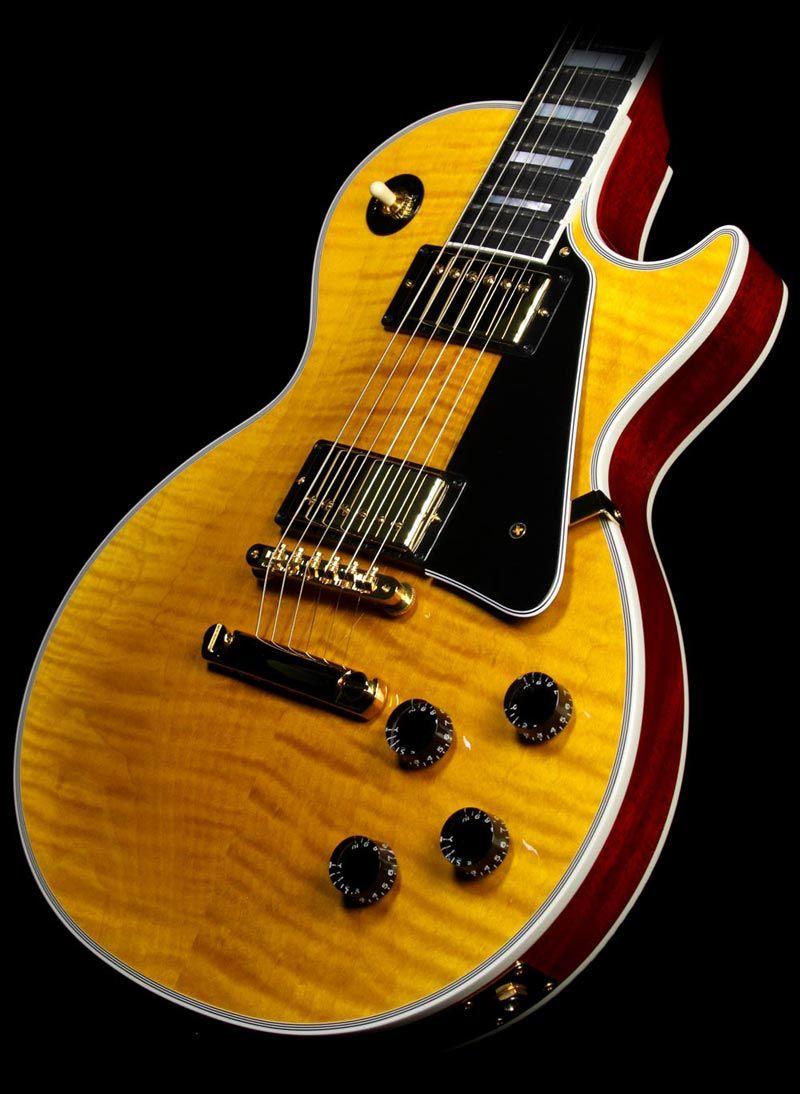 Gibson Custom Shop Les Paul Custom Figured Electric Guitar Reverse