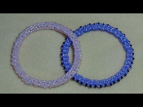 Tutorial) Rolo Beaded Bangle (Video 41) - YouTube | Beaded Bracelets ...
