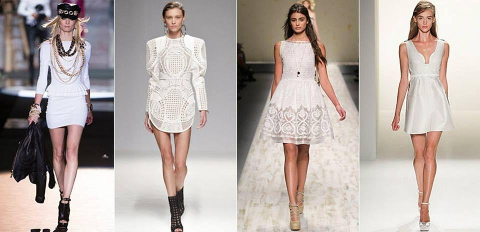 Little White Dress Una pieza ícono del estilo lady en el verano.