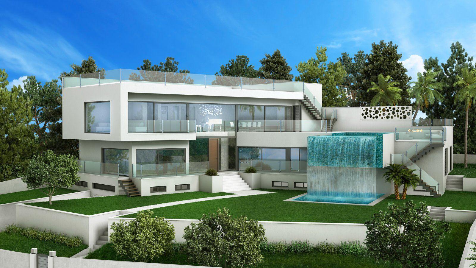Neu : moderne Luxusvilla in Nova Santa Ponsa, Mallorca http://www.casanova-immobilienmallorca.de/de/villa-haus/2511526/Villa-Mallorca--Neubauprojekt-einer-exclusiven-Meerblick-Villa