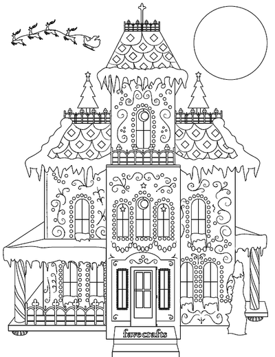 Breathtaking Gingerbread House Coloring Page Pdf House Colouring Pages Christmas Coloring Pages Coloring Pages