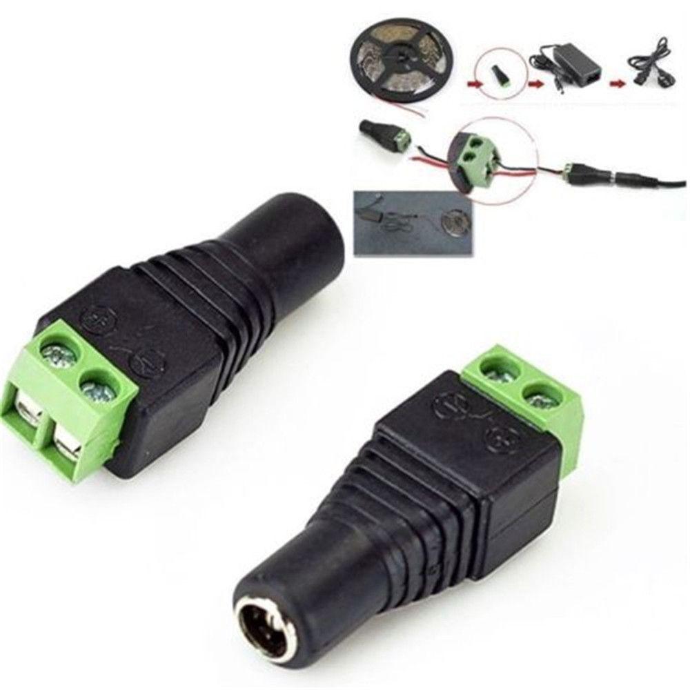 חמה למכירה פשוט ומקצועי מחבר מתאם תקע חשמל DC12V עבור 5050