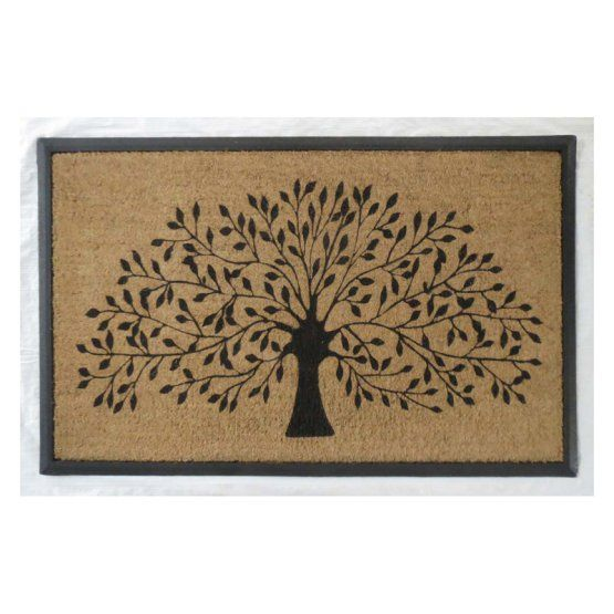 First Impression Tree Double Doormat   Add The First Impression Tree Double  Doormat To Your Front Entry To Create A Welcoming Environment.