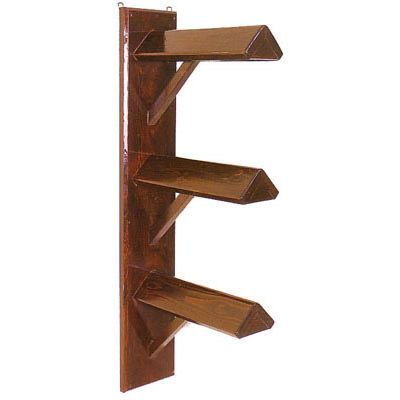 Solid Wood Wall Mount Saddle Rack Triple