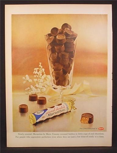 Vintage chocolates ad (1950s)