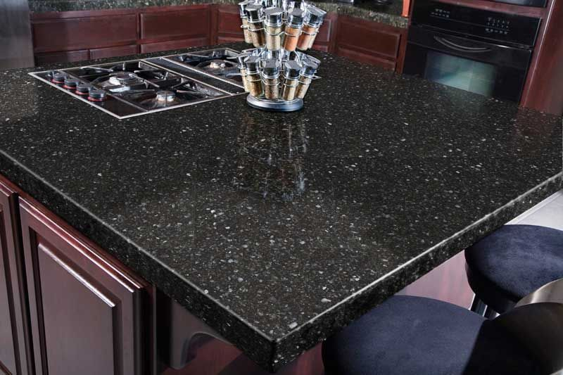 Quartz Is Made From Ground Quartz Combined With Polymer Resin; Dyes And  Glass Can Be