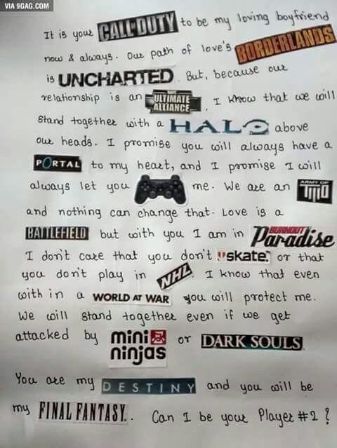 Gamer Love Gifts For Boyfriend Notes Birthday