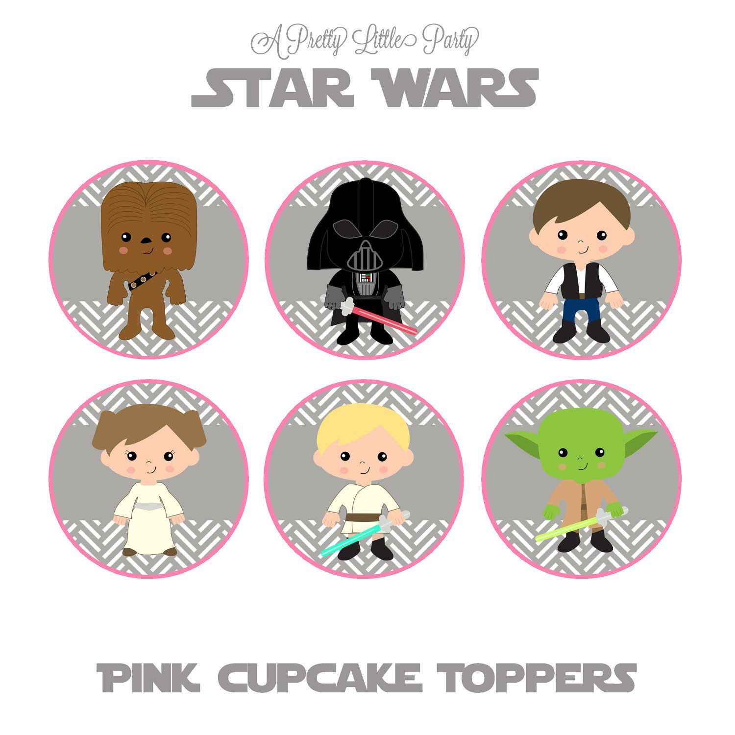 Star wars cupcakes toppers Party Ideas Pinterest