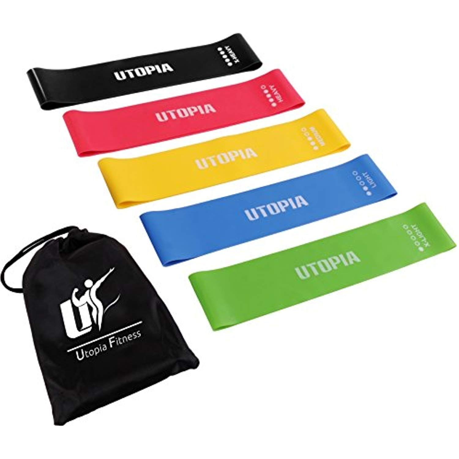 Yoga Sets of 2 Fitness Dreamer Resistance Band Pilates for Crossfit
