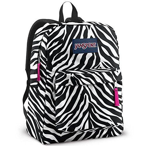 JANSPORT SUPERBREAK BACKPACK SCHOOL BOOK BAG - Black/ white/ Pink ...