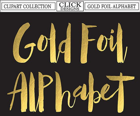 photograph relating to Printable Gold Foil titled GOLD FOIL ALPHABET Electronic ClipArt: Letters, Figures