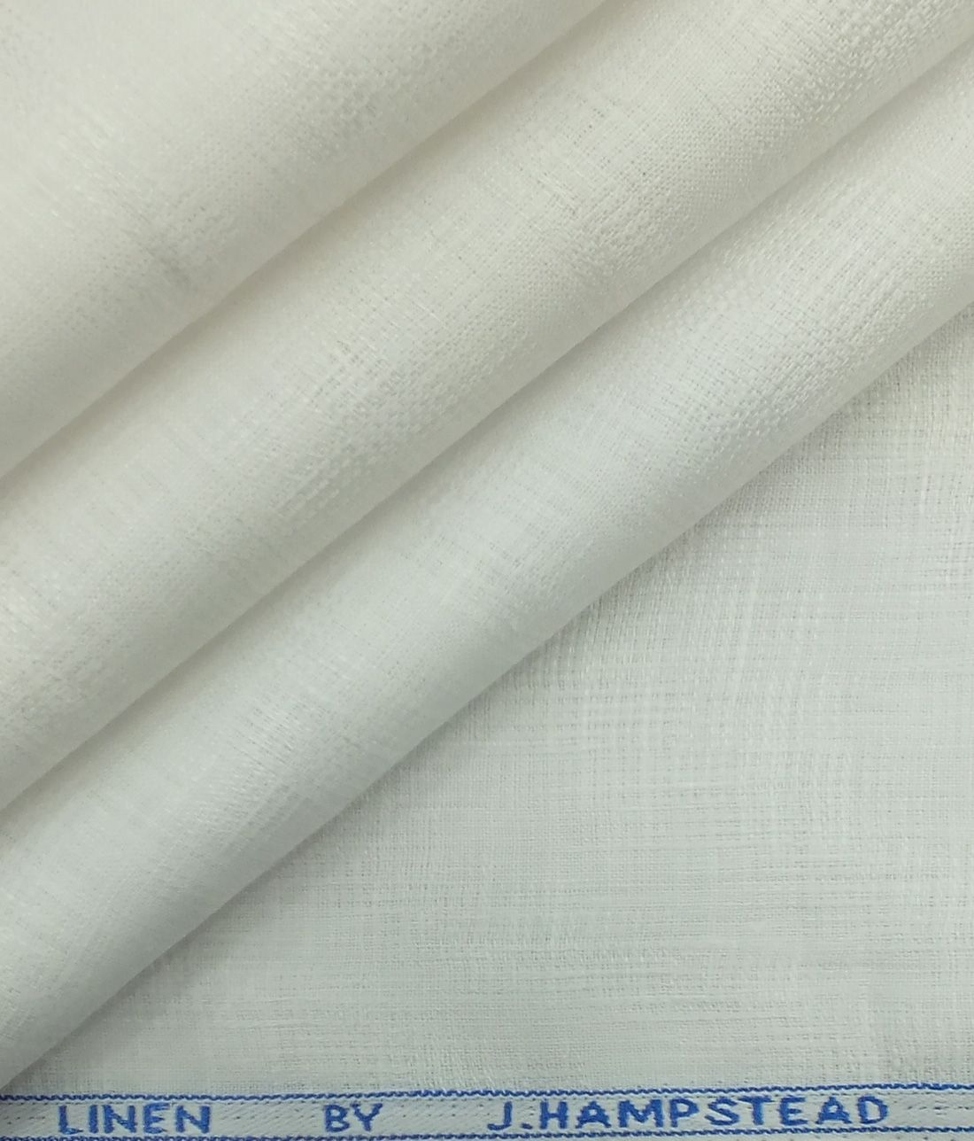 J Hampstead By Siyaram S White 100 Pure Linen 60 Lea Self Design Structured Shirt Fabric 1 60 M Self Design Pure Linen Pure Products
