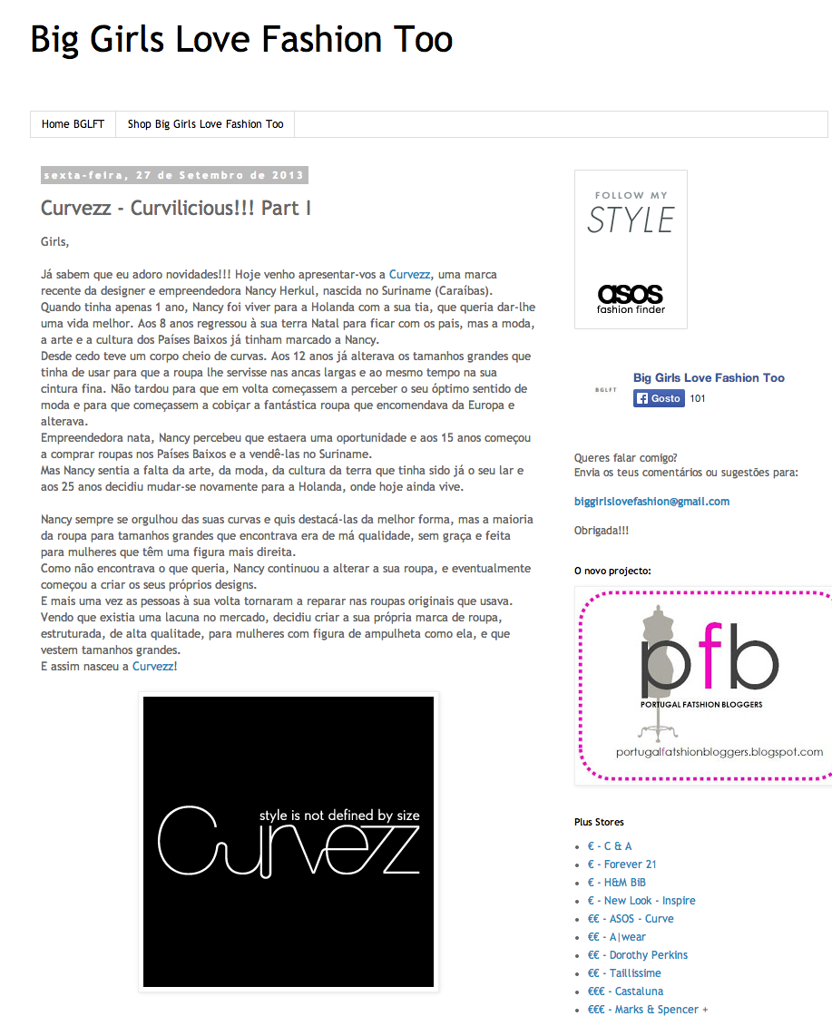 Curvezz - Curvilicious!!! Part I at Big Girls Love Fashion Too @Ana Carolina Fonseca