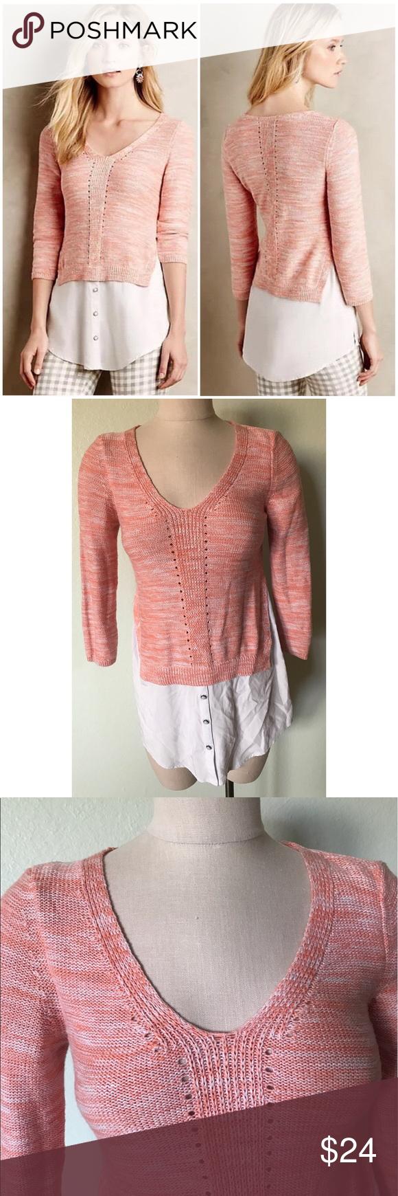 Anthropologie MOTH Aselin layered tunic sweater