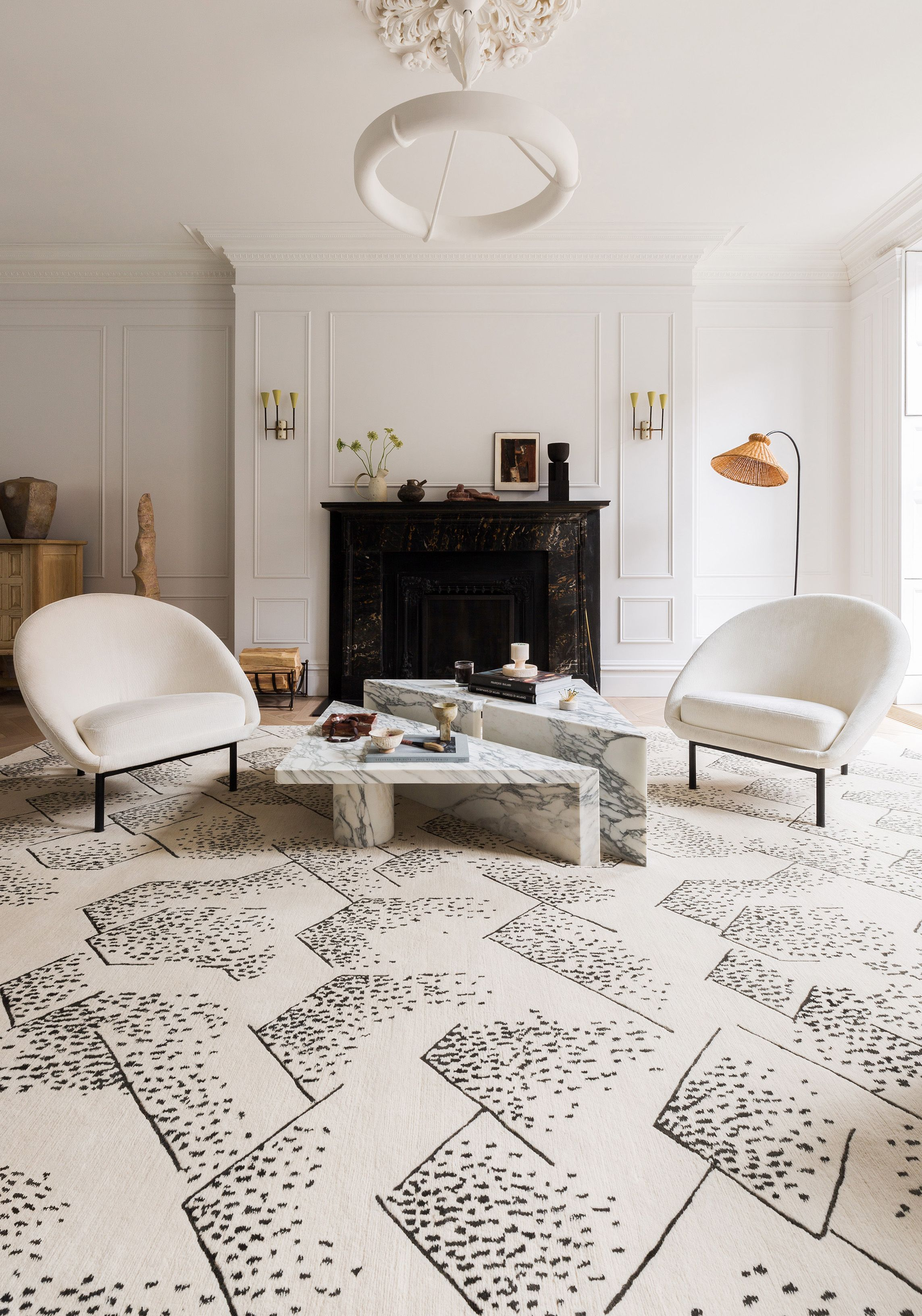 Brink Delicately Balances Geometry With Cascading Organic Dots To Create A Unique Rug That Is Both Structure Furniture Design Contemporary Furniture Home Decor
