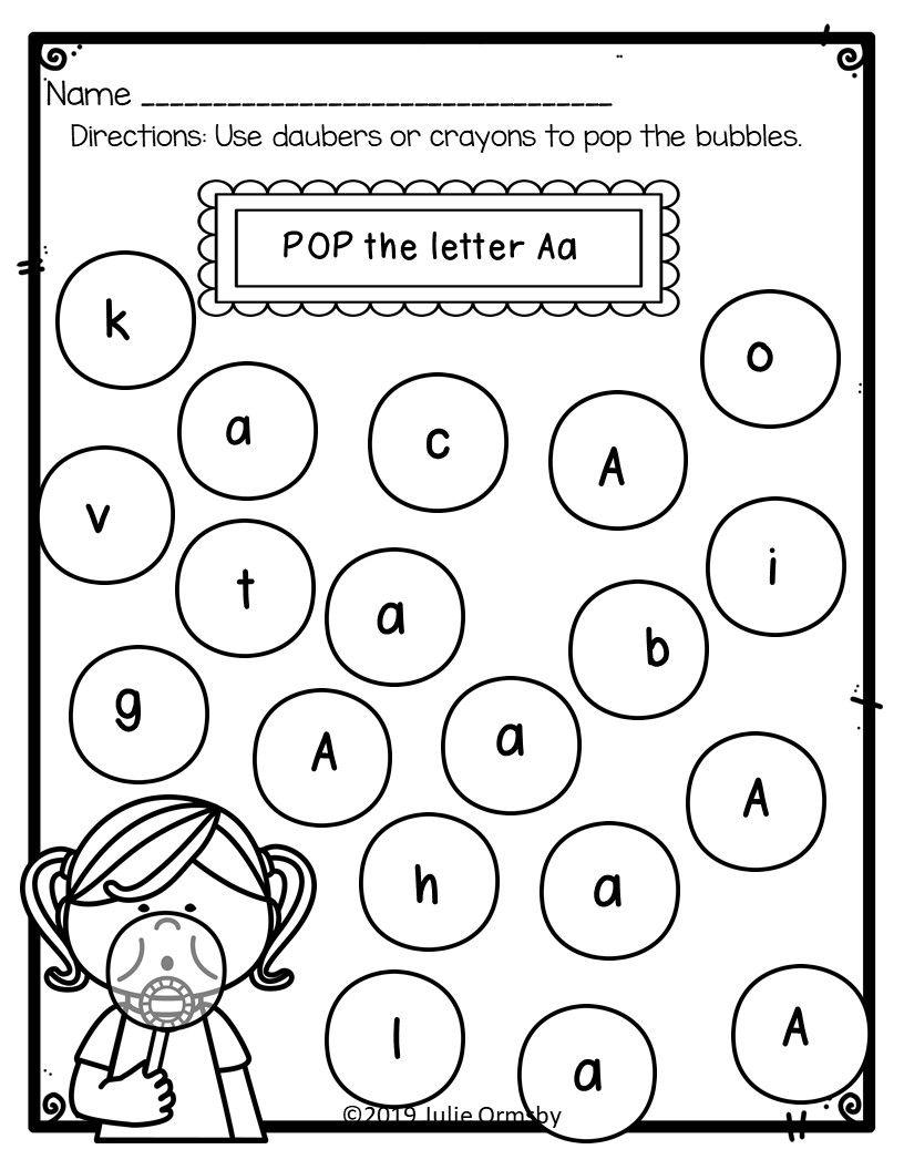 Alphabet recognition for kindergarten and prek Letter