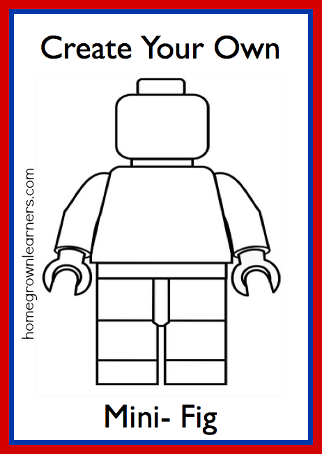 Lego freebies create your own lego mini figure printable for Design your own building free