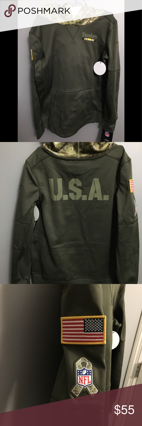 wholesale dealer adff8 81505 Steelers boys Nike therma hoodie Boys Nike therma hoodie ...