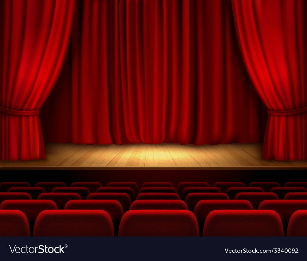 Background Stage Background Theatre Stage Red Curtains