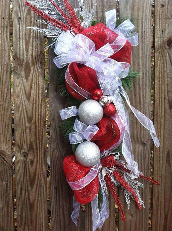 deco poly mesh teardrop christmas wreath by decorationsbyv on etsy 7500 - Christmas Wreaths Etsy