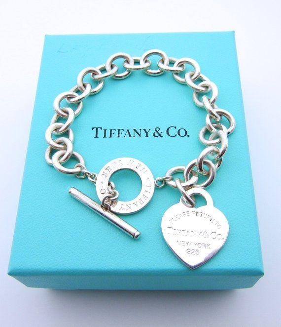 978e03ad6 Authentic Tiffany and Co Bracelet - Heart Tag Toggle Clasp - SS - Tiffany &  Co - Heart Tag Pendant -