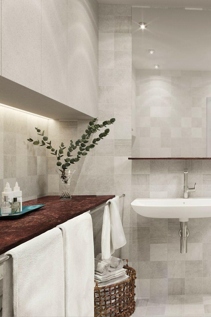 Tobin Properties: #tobinproperties Ljust badrum med väggar och ...