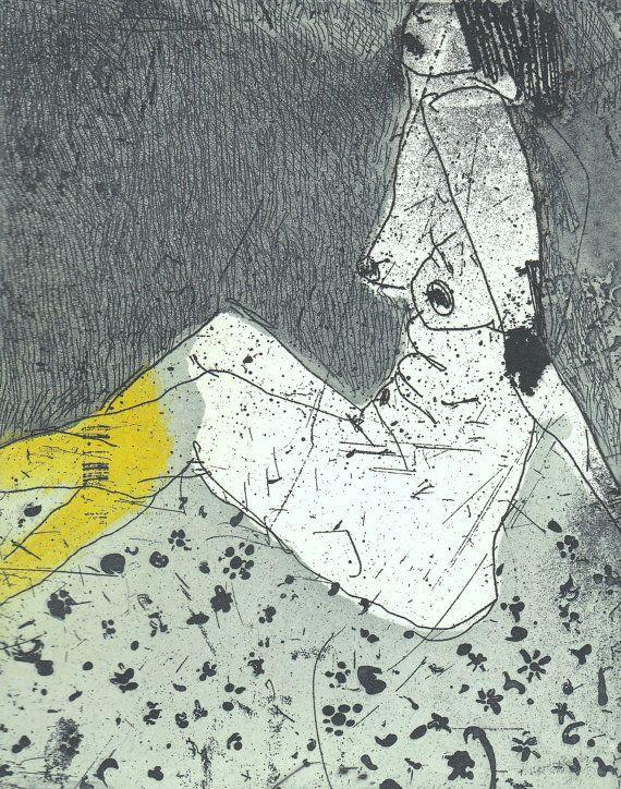 Original Etching by Marta Wakula-Mac Nude III by irishprintmakers