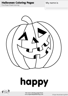 free happy jack o lantern coloring page from super simple learning tons - Free Jack O Lantern Coloring Pages