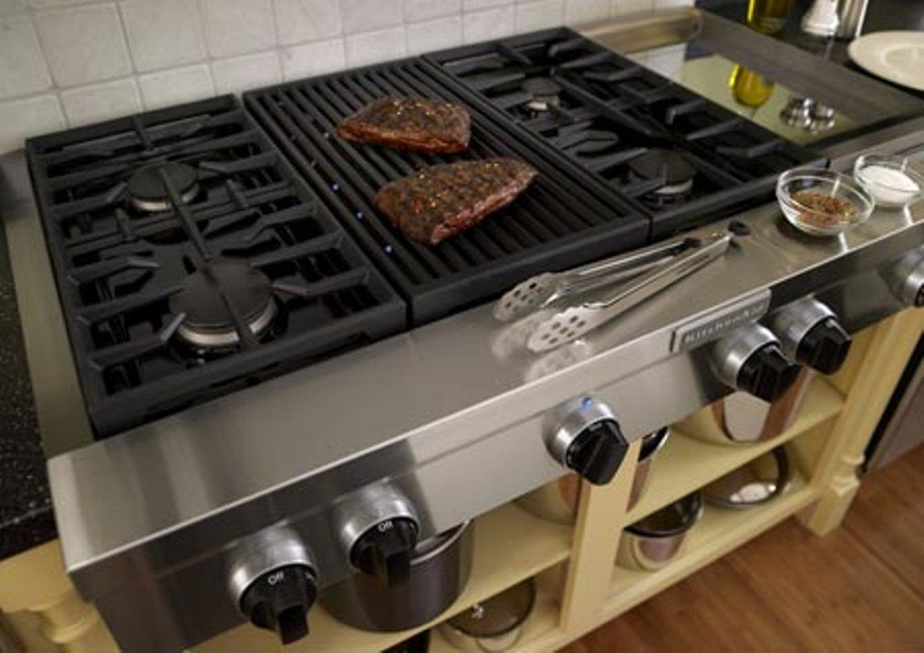 gas cooktop range with griddle  Google Search  cooktops