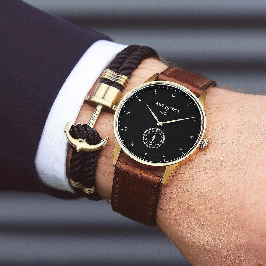 Gentlemens Must Have Signature Line Watch Anchor Bracelet From Paul Hewitt Getanchored Paulhewit Modische Armbanduhren Manner Accessoires Manner Armband