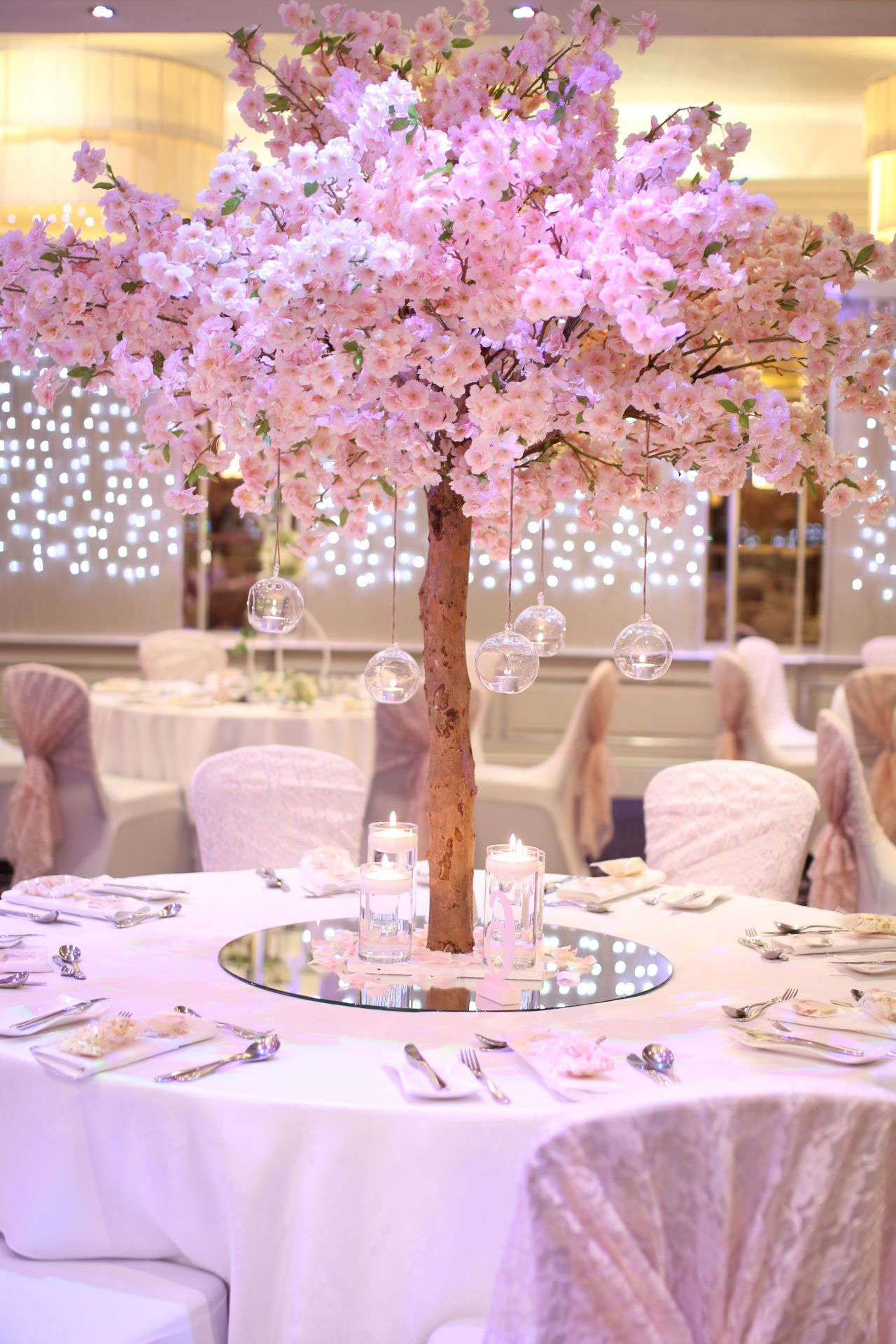 Pink Blossom Trees Cherry Blossom Wedding Theme Cherry Blossom Wedding Tree Centrepiece Wedding