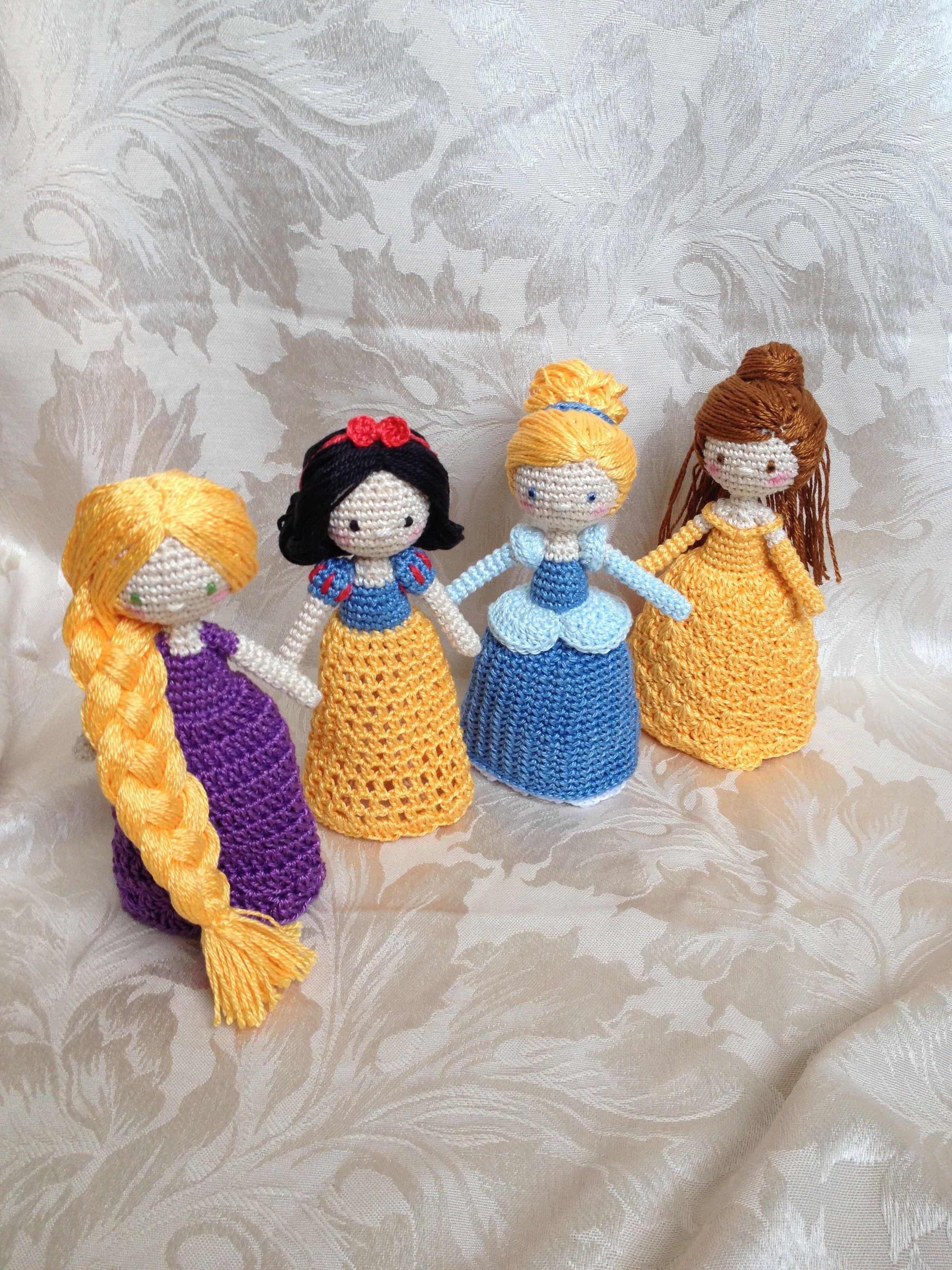 Crocheted princess dolls   Amigurumi   Pinterest   Princesas ...