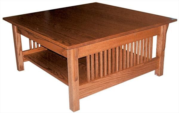 Amish Prairie Mission Square Coffee Table 18 Inches High X 36 Width