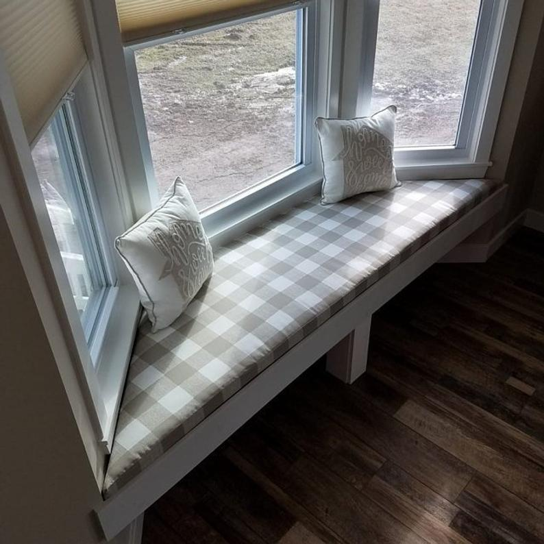 Bay Window Seat Cushion Trapezoid Bench Seat Custom Cushion