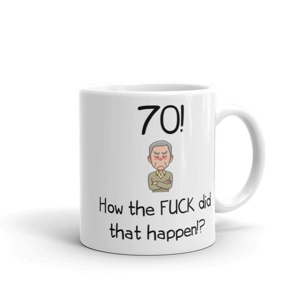 70th birthday grandpa dad gift mug for men funny 70th