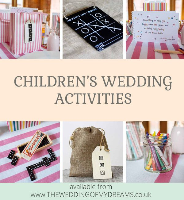 Fun Wedding Reception Ideas Activities: Childrens Wedding Activity Pack Ideas