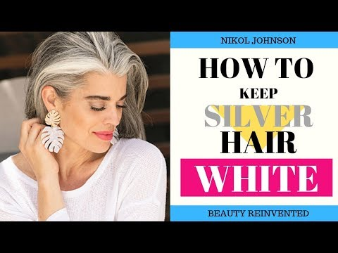 (1) HOW TO KEEP YOUR SILVER HAIR WHITE PRODUCTS I USE