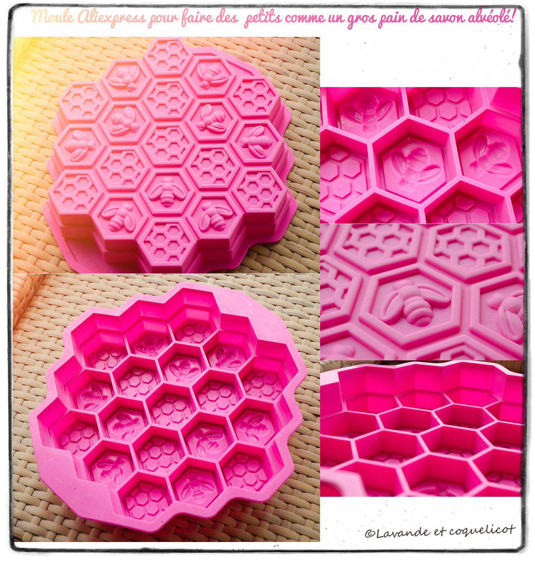 moule aliexpress alveole abeille lavande et coquelicot