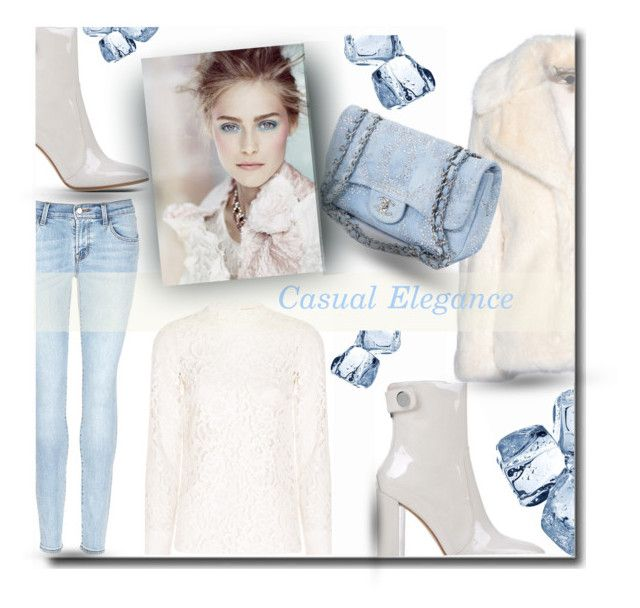 """""""Casual Elegance"""" by fashion-and-beauty-miracles ❤ liked on Polyvore featuring Yves Saint Laurent, J Brand, Gianvito Rossi, STELLA McCARTNEY and Chanel"""