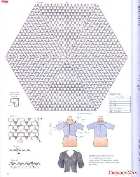 Кардиган из шестиугольников крючком схема фото 435