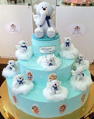 """Детский торт с медвежатами """"Мишки в облаках"""" - фото ..."""