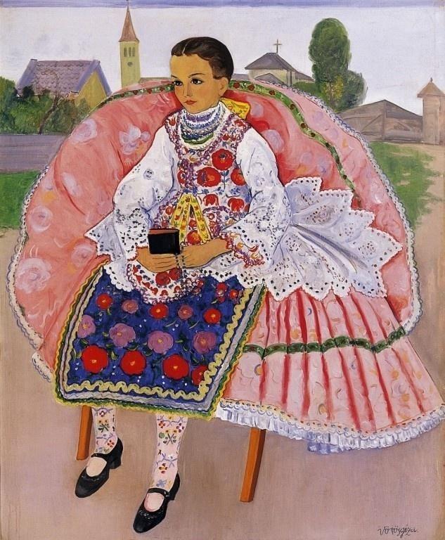 Vörös, Géza (1897-1957) -Girl in Folk Costume