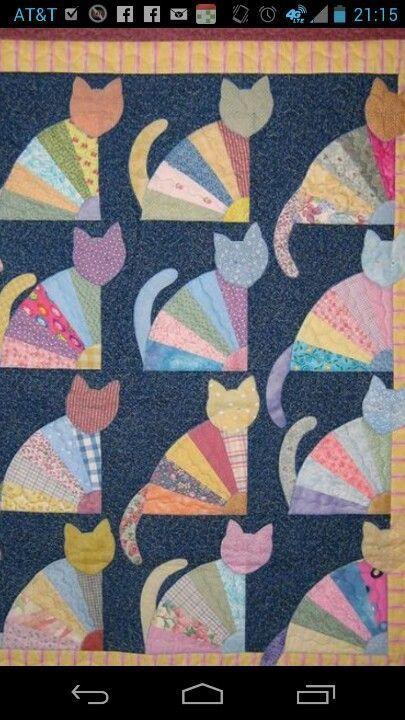 Awesome Cat Quilt | Quilting | Pinterest | Deko nähen, Patchwork und ...
