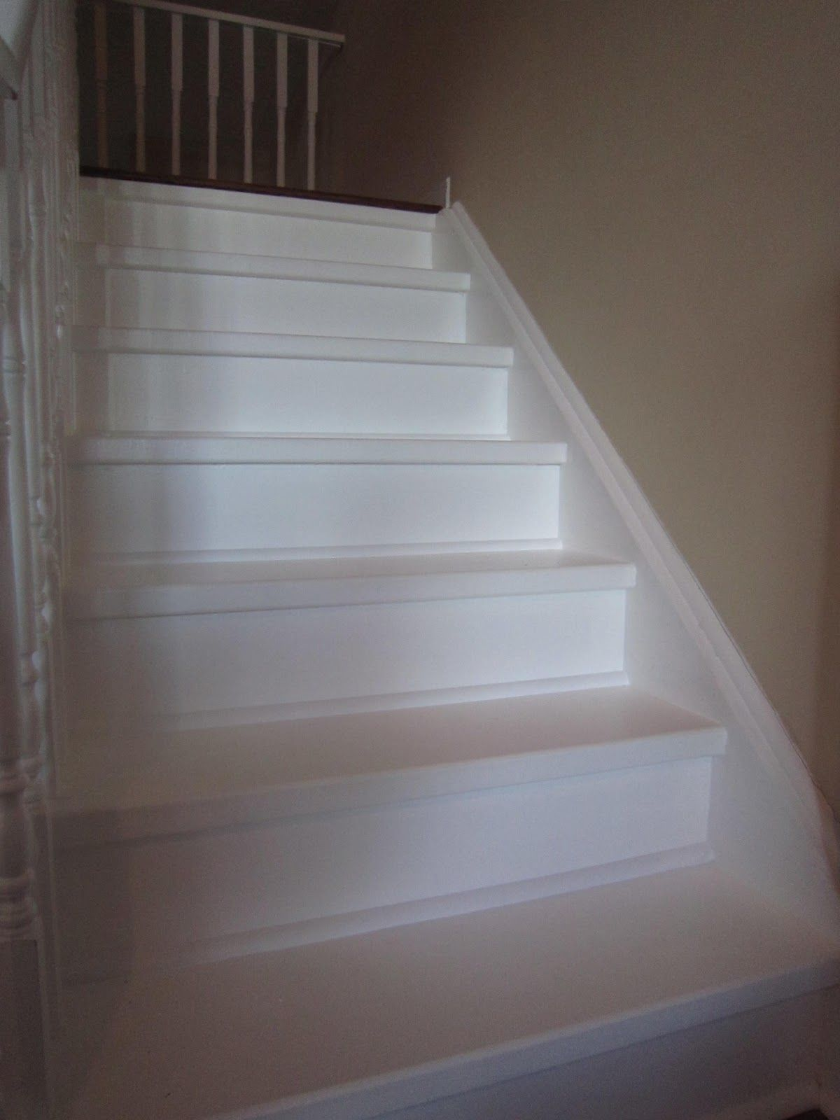Redo Stairs Cheap Painted Pickets Stairs How To Make That Cheap Plywood Under