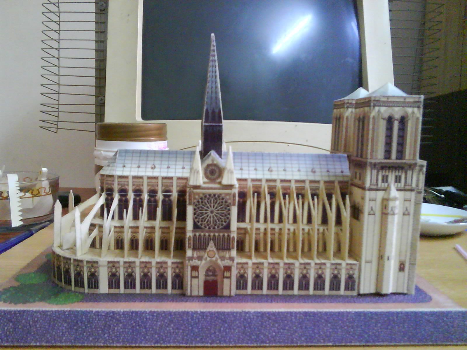Paper Model_ Notre Dame Cathedral ..By Saiedabdo