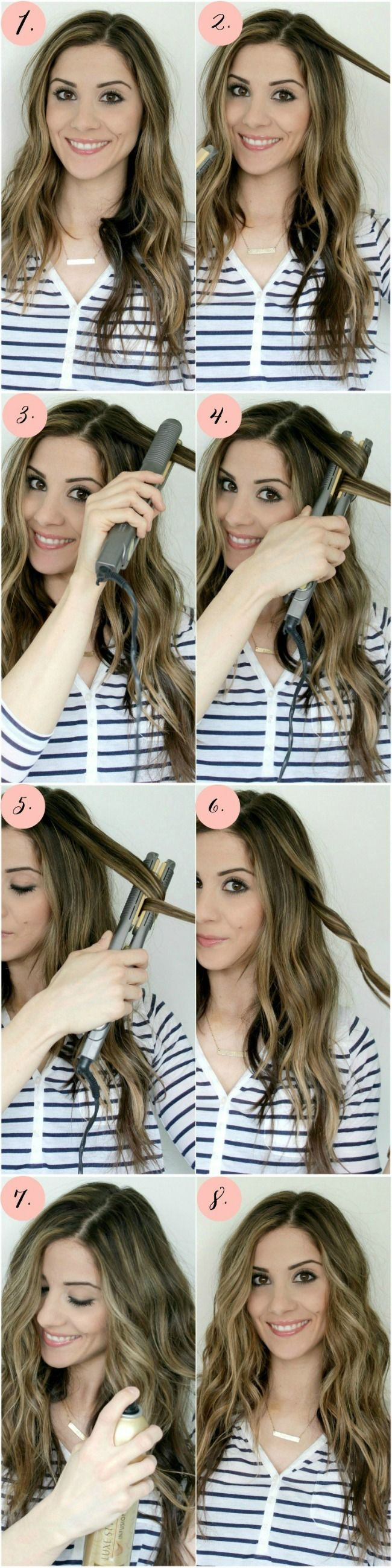 The 11 Best Flat Iron Tricks For The Hair The Eleven Best Hair Styles Long Hair Styles Flat Iron Curls