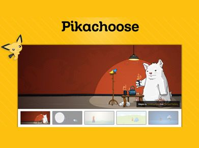 pikachoose slider